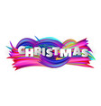 christmas abstract background with colorful vector image vector image