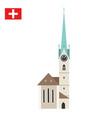 church fraumunster in zurich switzerland vector image