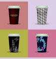 coffee cup to go coffee cups set collection vector image
