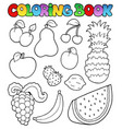 coloring book with fruits images vector image