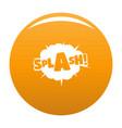 comic boom splash icon orange vector image
