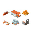 construction buildings process industrial vector image