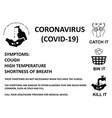 coronavirus covid 19 measures vector image