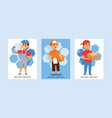 courier postman man character of delivery vector image