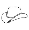 cowboy hat black color icon vector image vector image