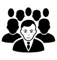 Crowd Flat Icon vector image vector image