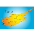 Cyprus vector image