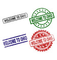 damaged textured welcome to ohio seal stamps vector image vector image