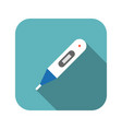 digital thermometer icon with long shadow vector image vector image