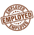employed brown grunge round vintage rubber stamp vector image vector image
