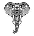 entangle stylized elephant hand drawn lace vector image vector image