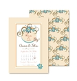 floral wedding invitations in vintage style Ideal vector image