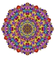 full color mandala vector image vector image