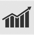growing graphic icon vector image