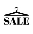hanger with sale text vector image