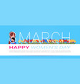 happy international women day greeting poster vector image