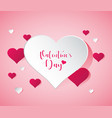 heart balloon for valentines day vector image vector image
