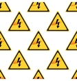High Voltage sign pattern vector image vector image