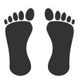 human footprint isolated icon vector image vector image
