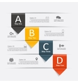 Infographic design with elements and icons vector image vector image
