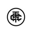 initial monogram trc logo design vector image vector image