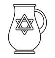jewish jug icon outline style vector image vector image