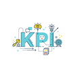 KPI Key Performance Indicator word vector image