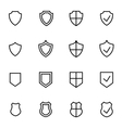 line shield icon set vector image vector image