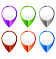 map marker map pin set abstract pushpins vector image vector image