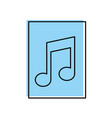 paper document with music note isolated icon vector image vector image
