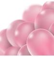Pink glossy balloons EPS 10 vector image vector image
