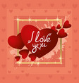 red hearts of love vector image