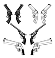 revolvers vector image vector image