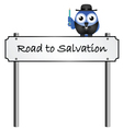 ROAD SIGN SALVATION vector image vector image