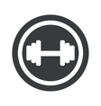Round black barbell sign vector image