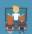 school teacher design vector image