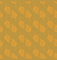 seamless background with fern leaves gold vector image vector image