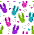 Seamless pattern with bunnies and hearts vector image vector image