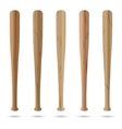Set of baseball bats vector image vector image