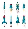Set of rockets vector image vector image