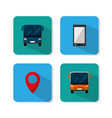 set of urban transport icons vector image