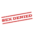 Sex Denied Watermark Stamp vector image vector image