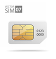 SimCard01 vector image vector image