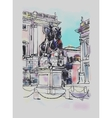 sketch digital drawing of Rome Italy cityscape vector image