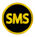 Sms button vector image vector image