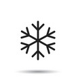 snowflake icon in flat style isolated on white vector image