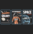 space exploration adventures posters vector image