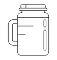 spinach jar icon outline style vector image vector image