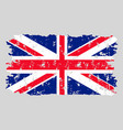 united kingdom flag grunge texture stamp vector image vector image