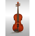 Wooden violin on gray vector image vector image